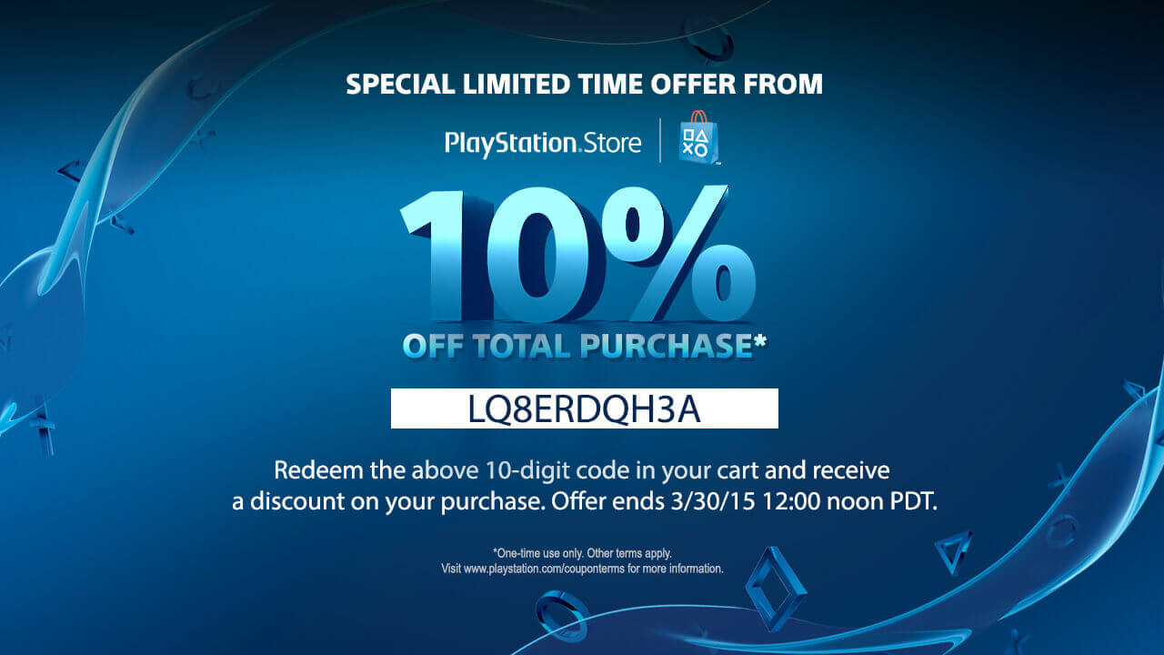 10% Off PSN Store This Weekend Only