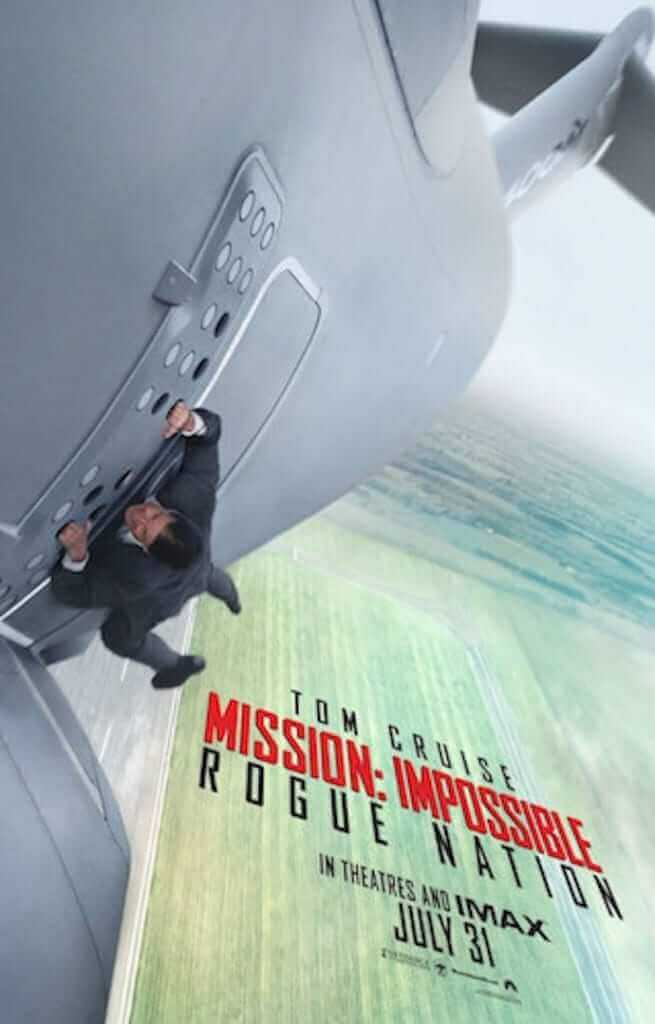 The poster for Mission Impossible Rogue Nation