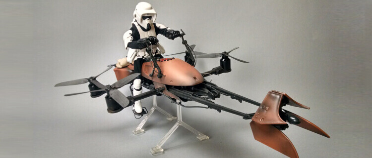 Fan Turns Star Wars Speeder Bike into Real Flying Machine