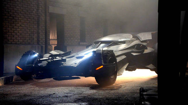 The Batmobile From Batman V. Superman: Dawn Of Justice