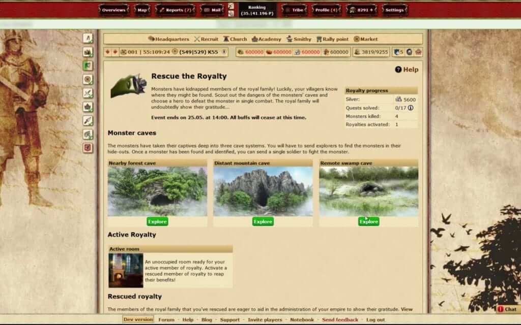 Tribal Wars Gets Revamped 'Rescue the Royalty'