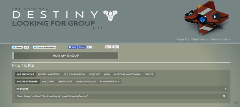 Destiny Looking for Group sites are common