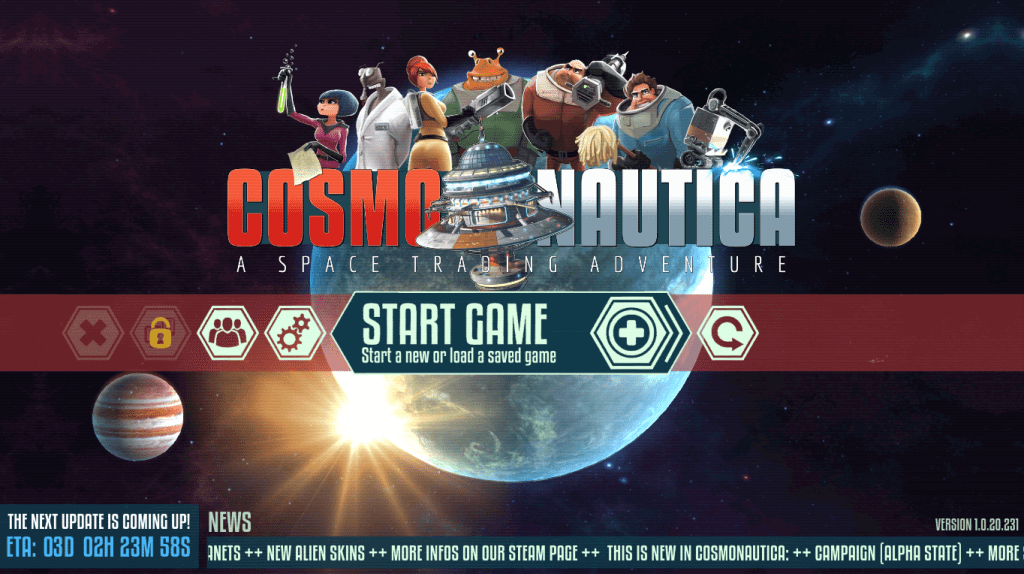 Cosmonautica promises a mix of Elite and The Sims gameplay
