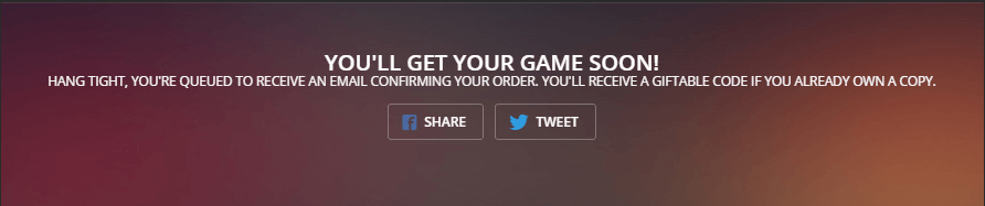 Simply click the banner and receive a free game