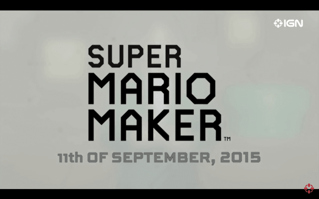 E3 2015: Super Mario Maker Release Date Announced