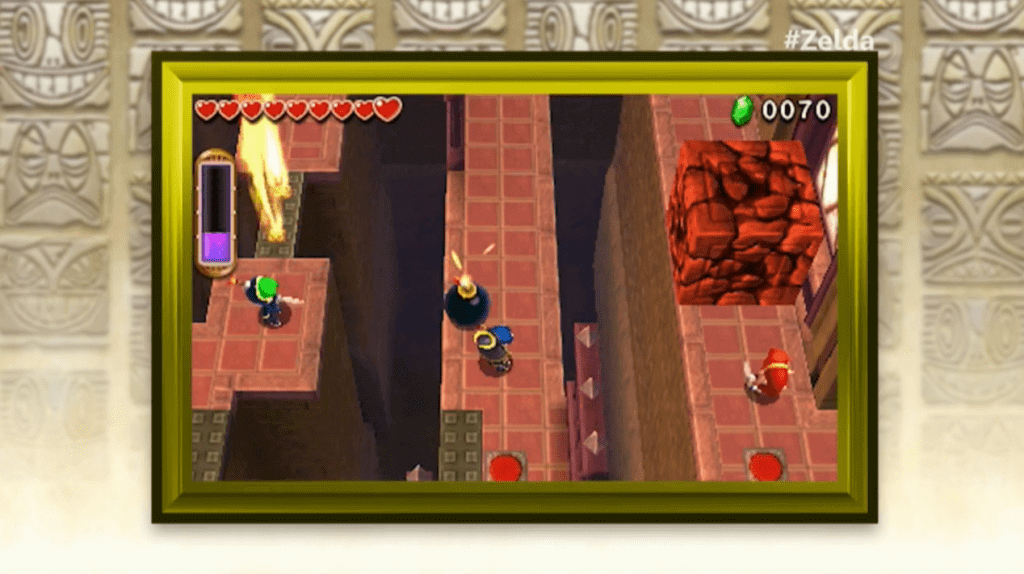 Tri Force Heroes lets players work together to solve puzzles