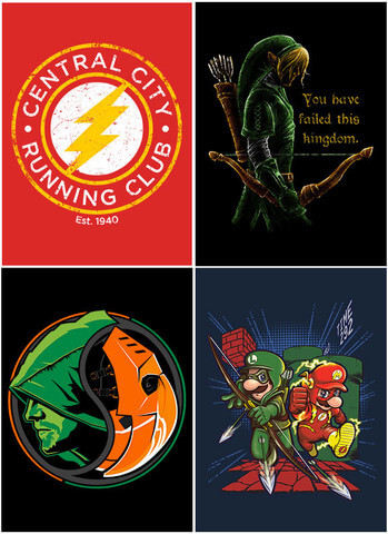 This collection includes the following designs: Super Suits, Slade Yang, Hyrule Vigilante, and Central City Running Club