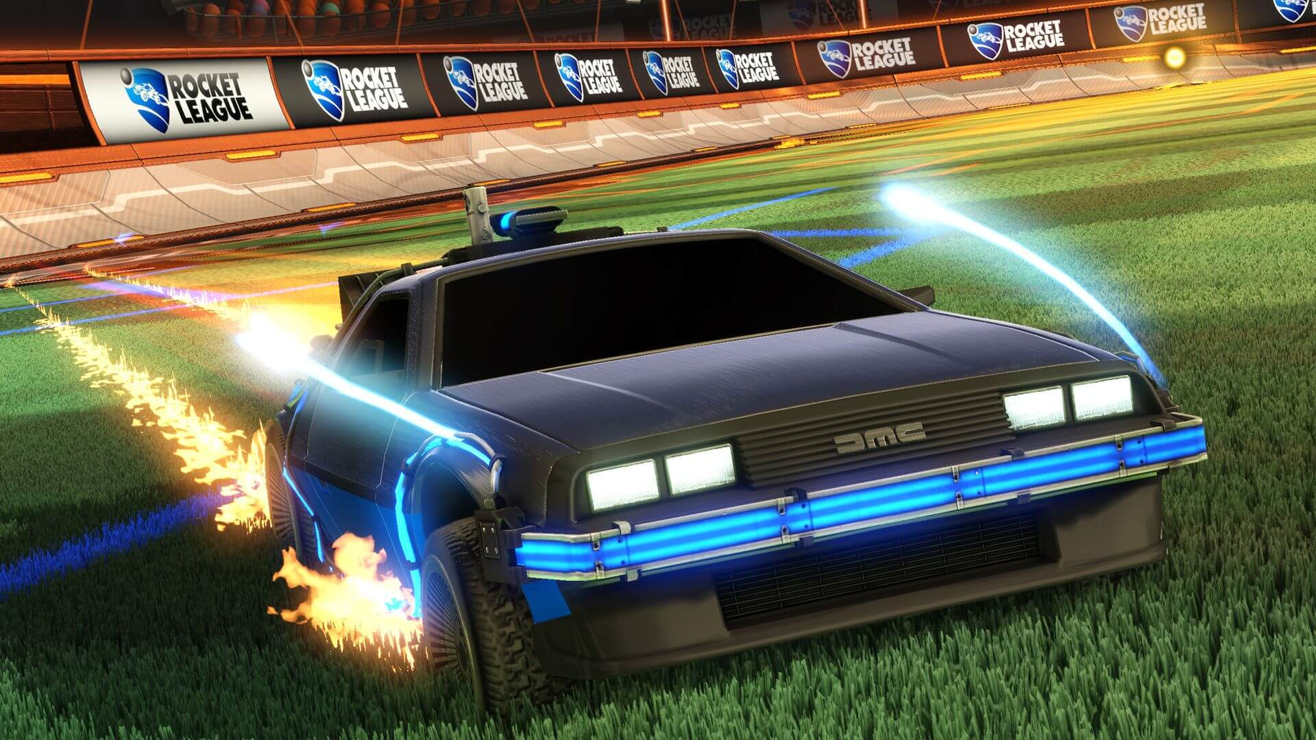 Rocket League Travels Back to The Future