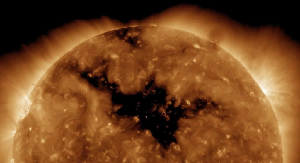 NASA Spots Giant Hole in Sun