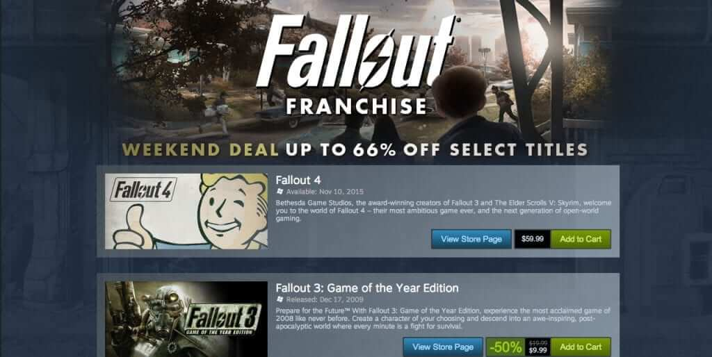 Fallout Franchise Weekend Sale