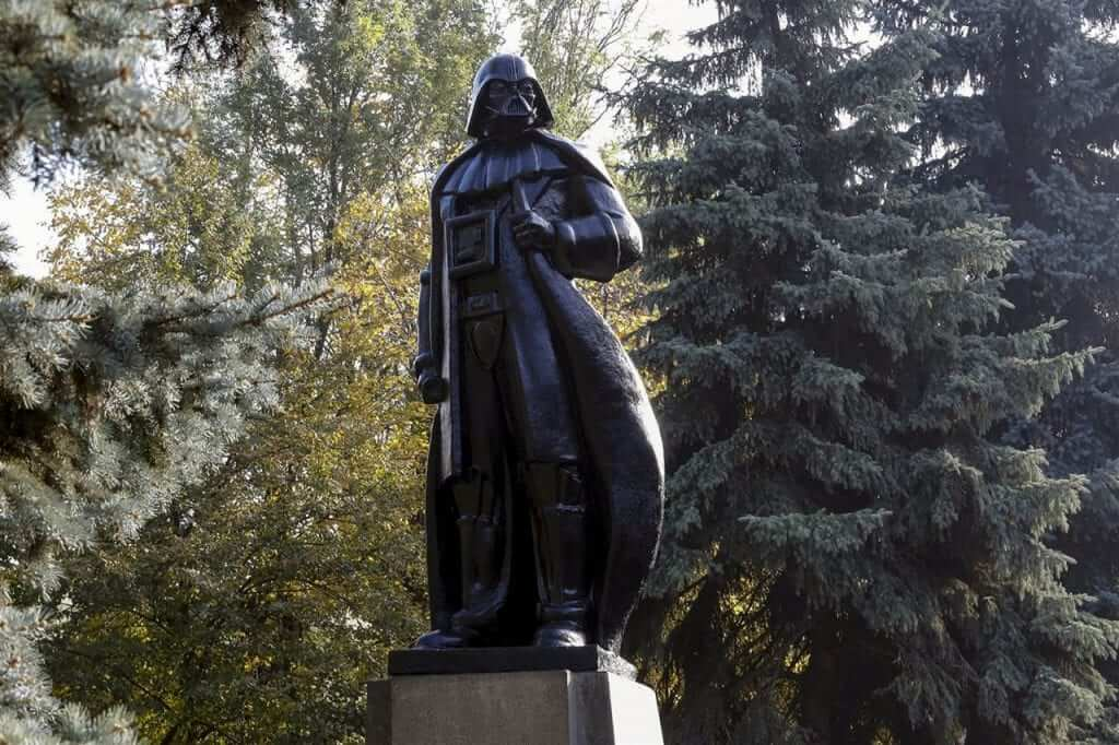 Statue of Lenin Turned Into Darth Vader