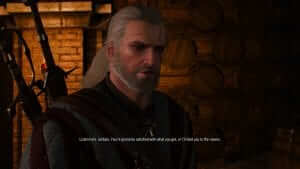 This is how Geralt feels about the other games' chances of winning awards.