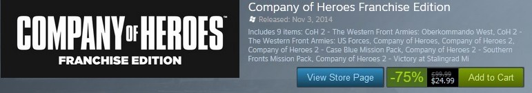 COH Steam Sale
