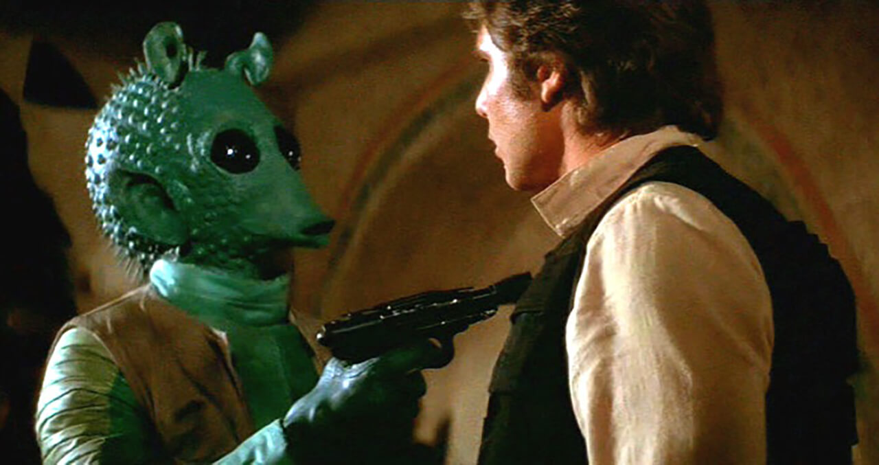 George Lucas Defends Why Greedo Shot First