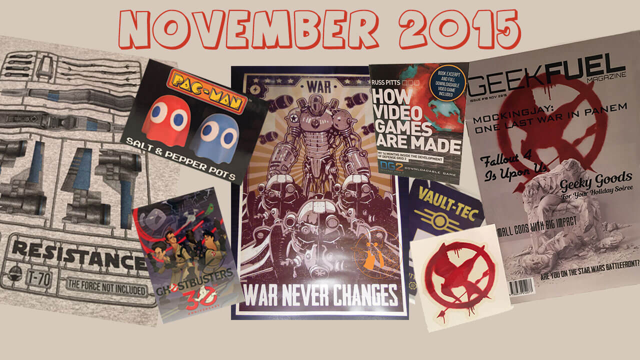 Geek Fuel Unboxing and Review:  November 2015