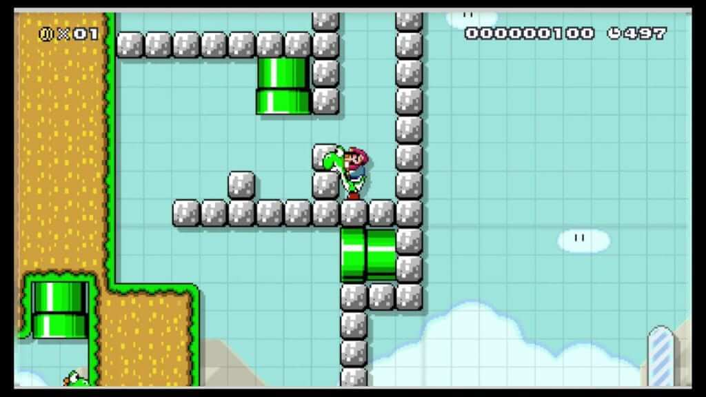 Super Mario Maker Bug Lets Yoshi Swallow Blocks