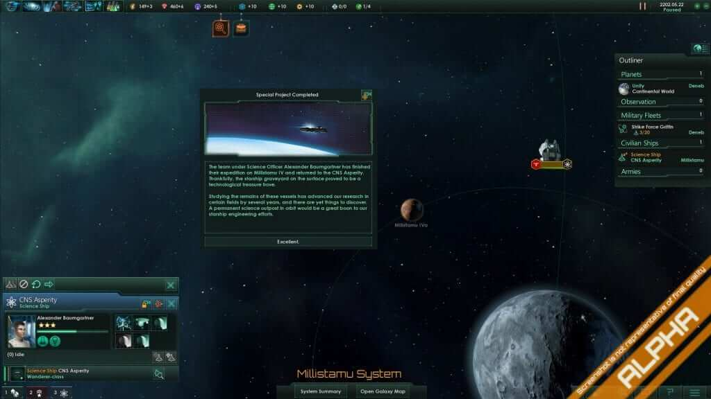 Stellaris Developer Diary 8: Situation Log and Special Projects