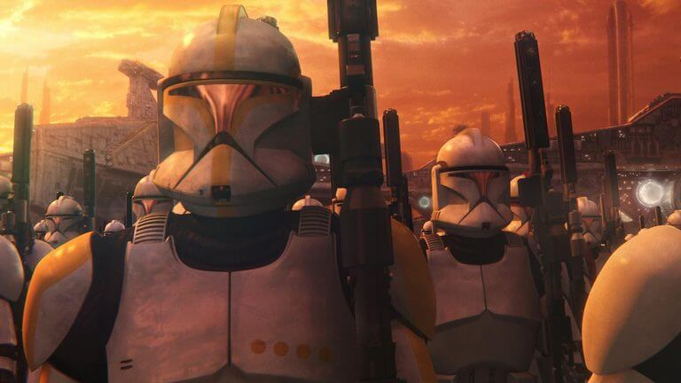 The Clone Army - all clones of bounty hunter Jango Fett.