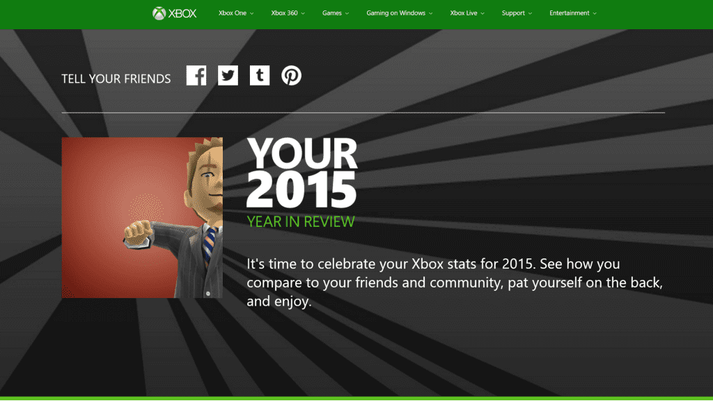 Microsoft Offers Players Their 2015 Xbox Stats