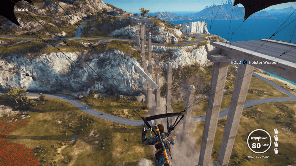 Blowing up bridges in Just Cause 3