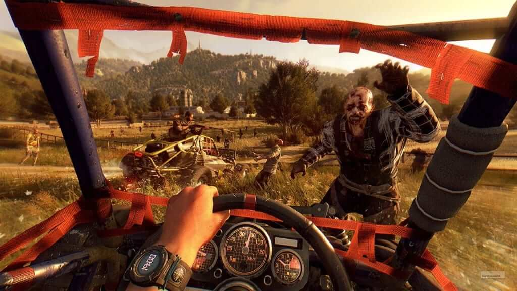 Dying LIght Dune Buggy hitting zombie