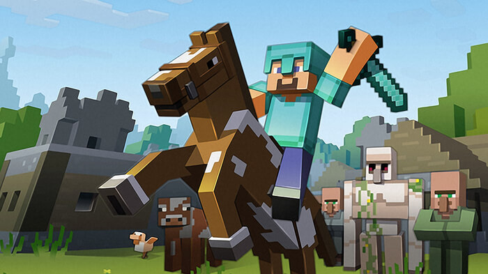 Minecraft promotional art