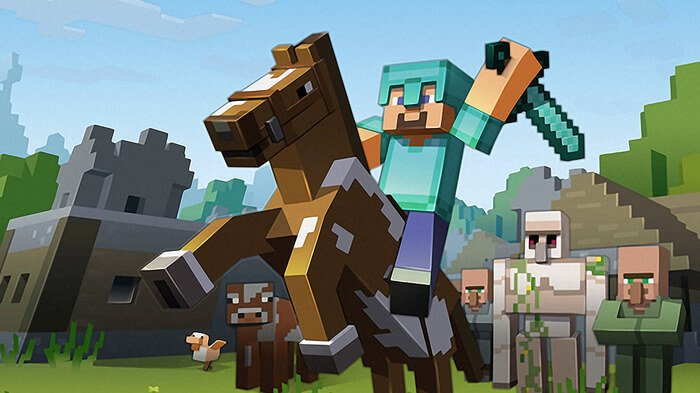 The featured hit game Minecraft finally makes it way to the Wii U.