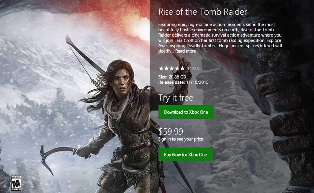 rise of the tomb raider demo released