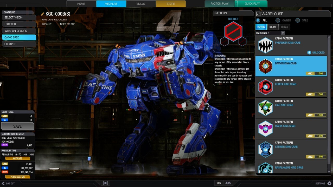 MechWarrior Online Adds Long-Awaited Faction Play