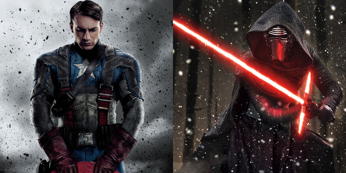 Kylo Ren and Captain Americ
