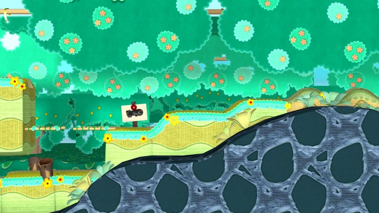 Here's an Unused Level from Yoshi's Woolly World