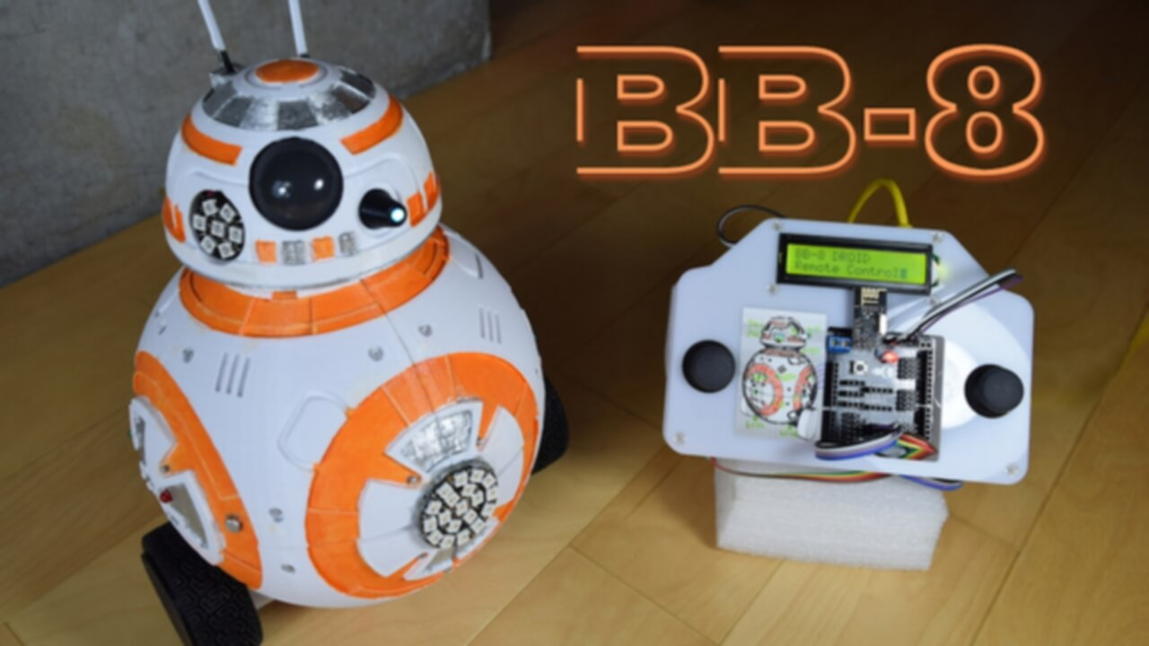 BB-8 Droid is 3D Printed by Software Engineer