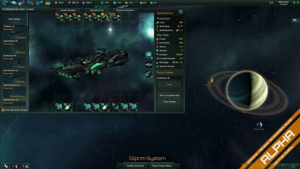 Stellaris Development Diary #17: Ship Designer
