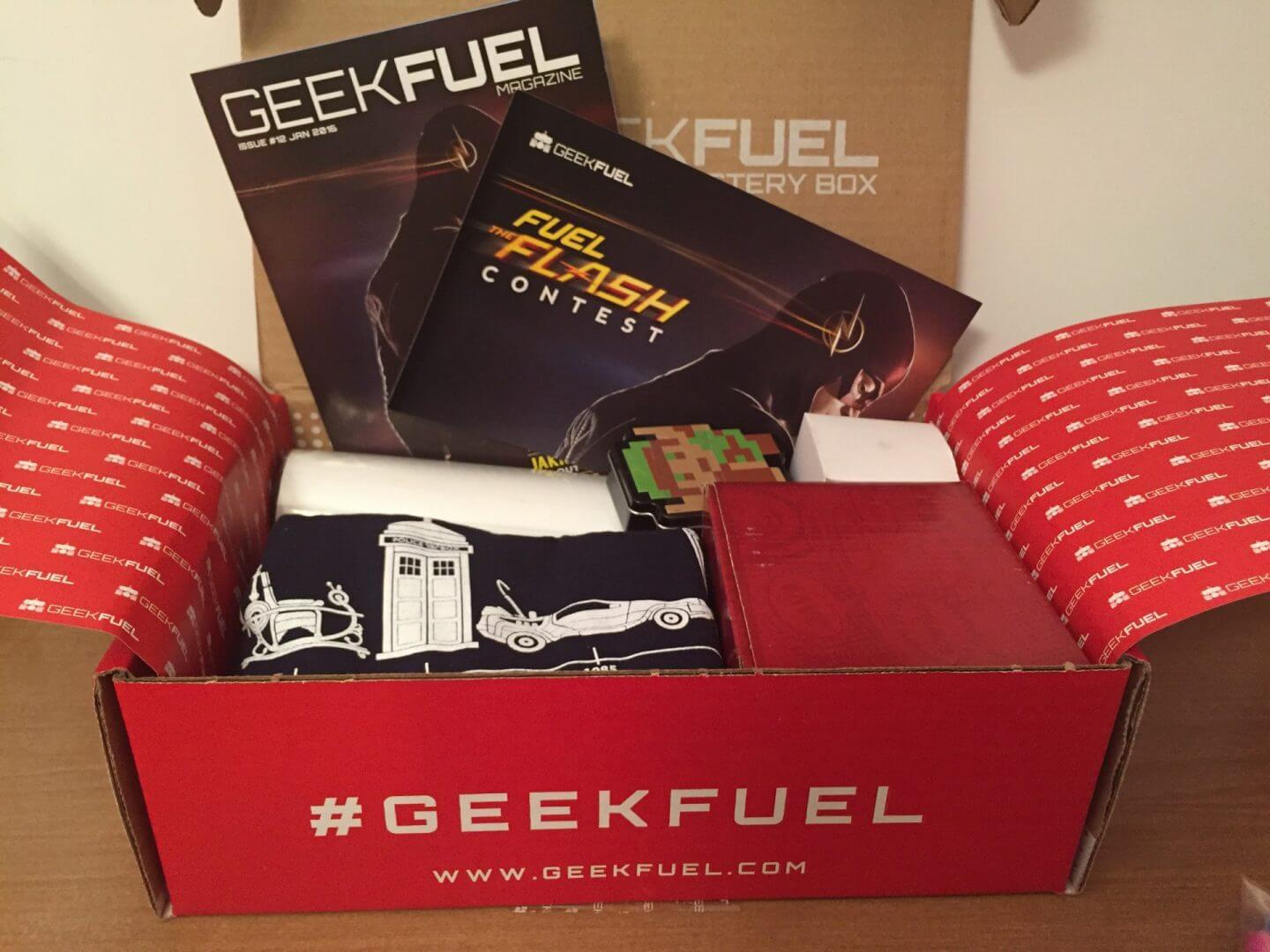 Geek Fuel:  January 2016 Unboxing and Review