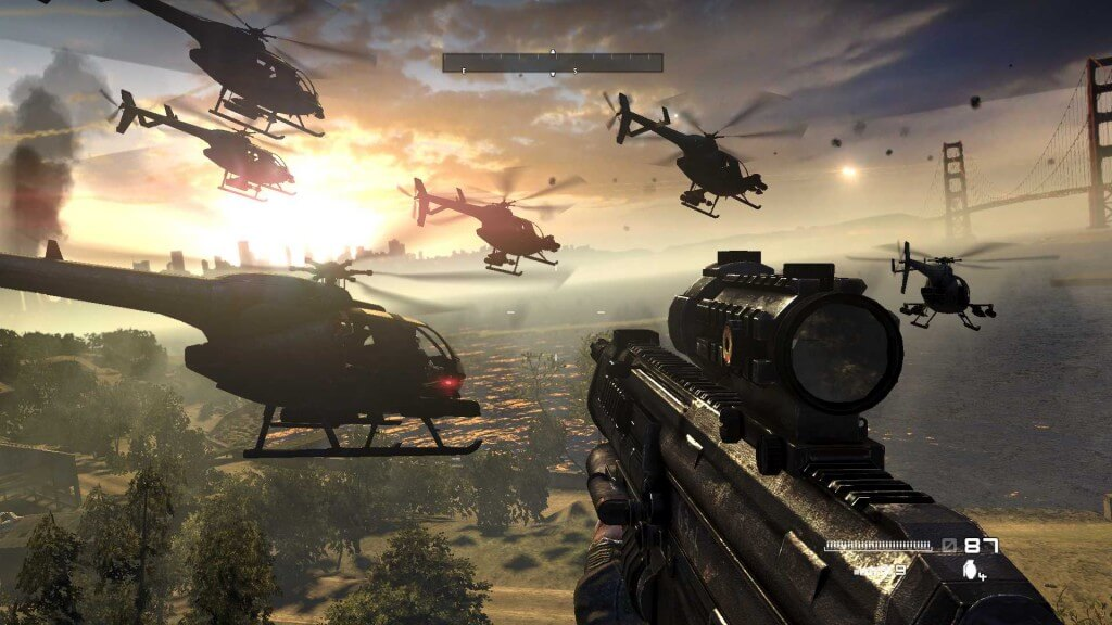 Enemy choppers Homefront