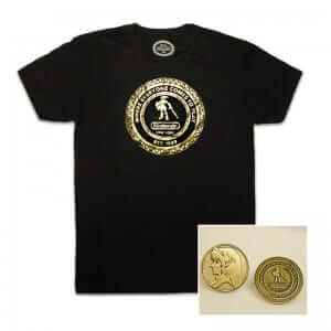 Link commemorative shirt and coin.
