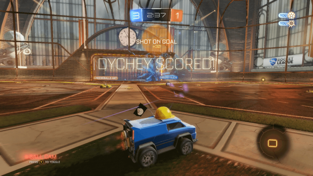 Scoring A Long Range Goal In Rocket League Feel Great