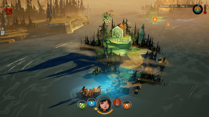 The Flame in the Flood is at its best when you're on the open water.