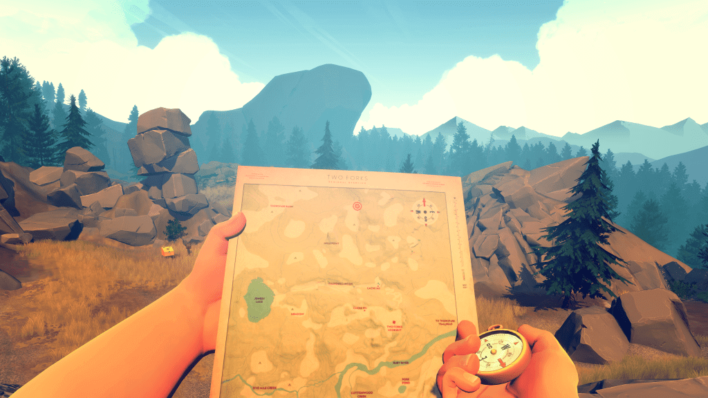 You Will Have To Use A Map and Compass To Navigate In Firewatch