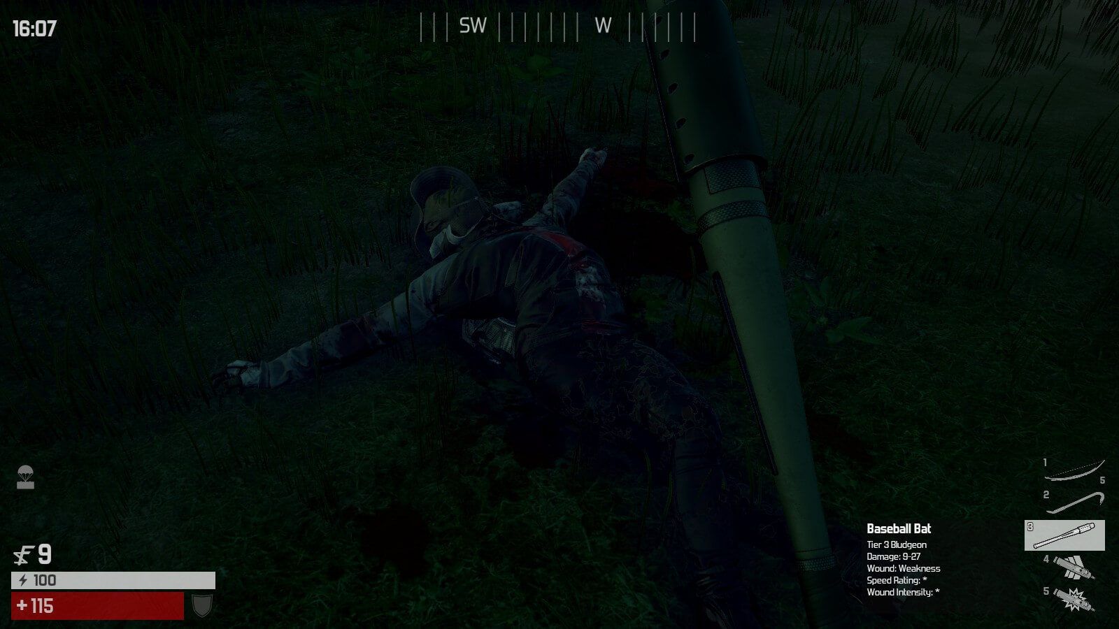 Nothing like looting a fresh kill. That you killed. With a baseball bat.