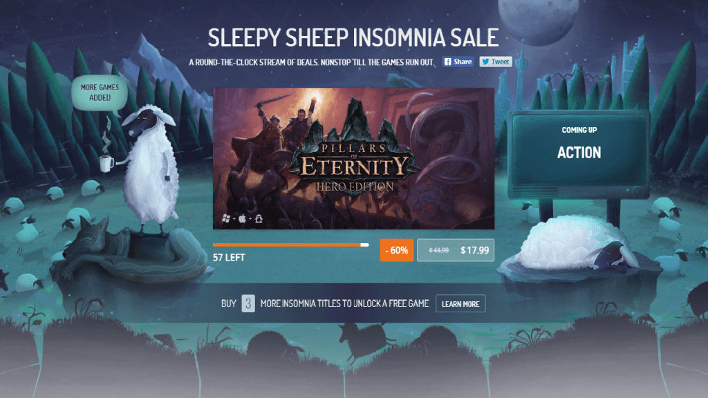 GOG Sleepy Sheep Insomnia Sale Has Awaken