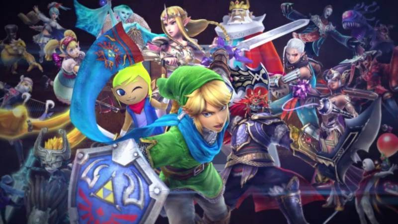 The varied cast of Hyrule Warriors Legends.