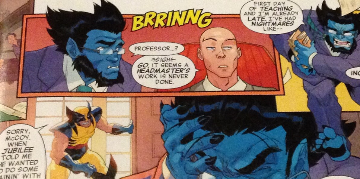Professor X has reopened his school to young mutants, and shenanigans are already underway.