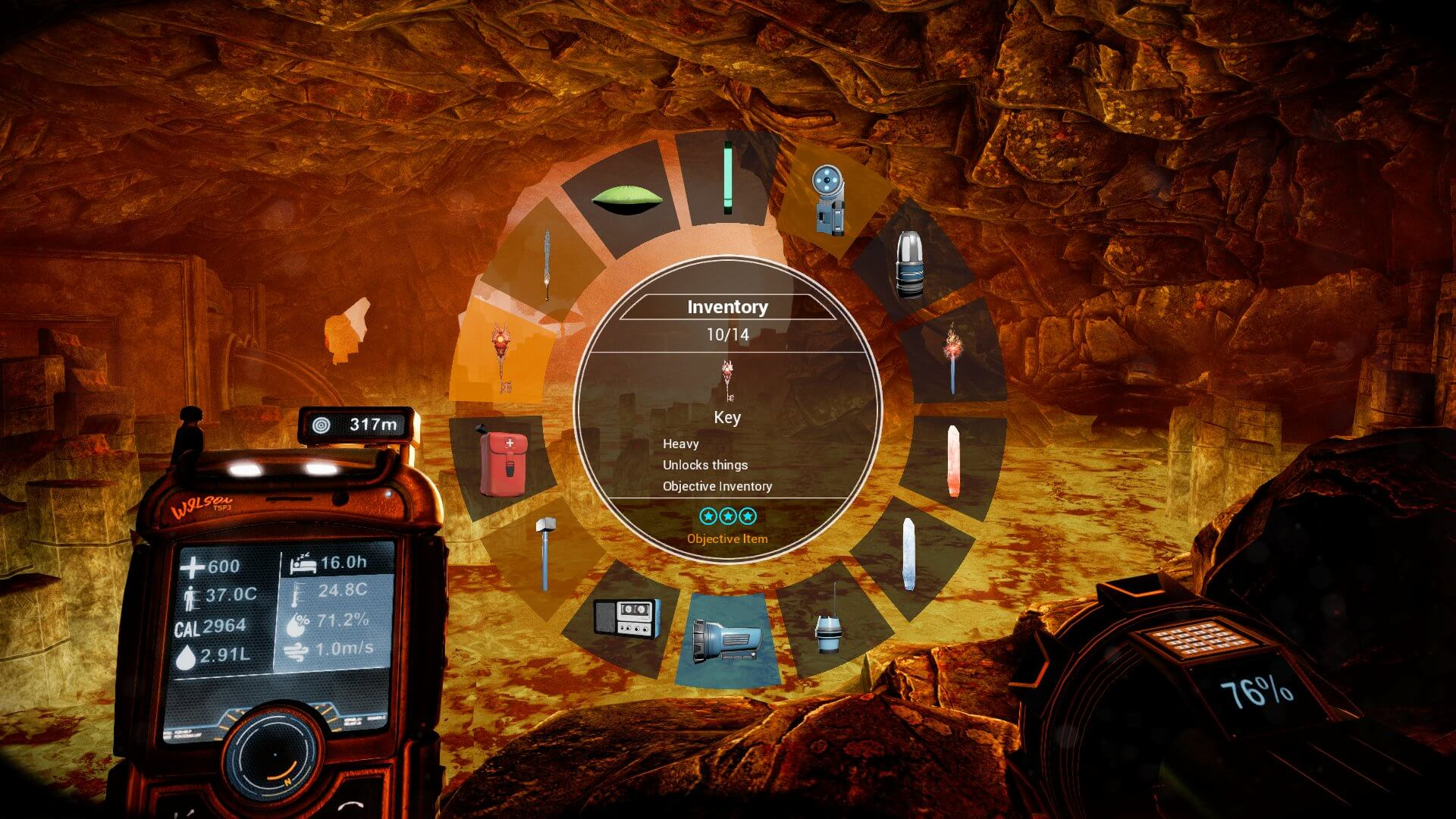 The Solus Project Inventory Screen
