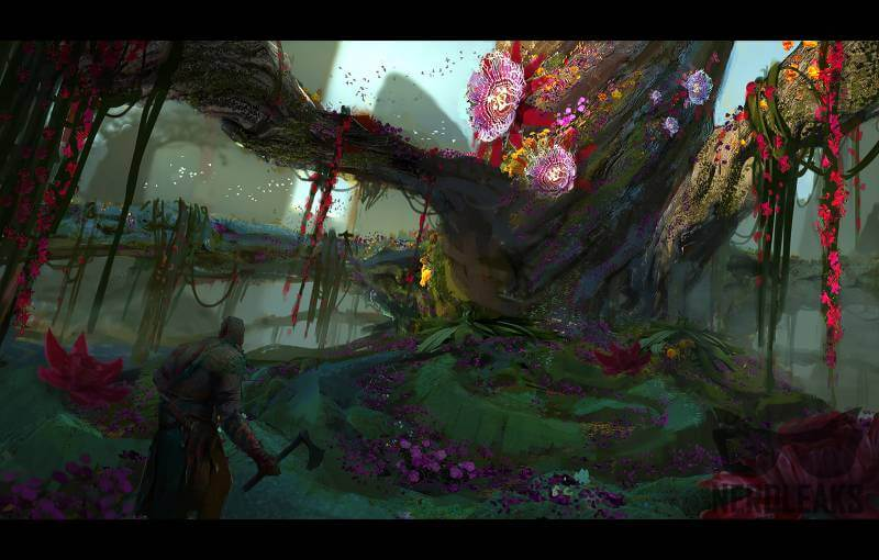 This piece of God of War 4 concept art shows off the beautiful new setting