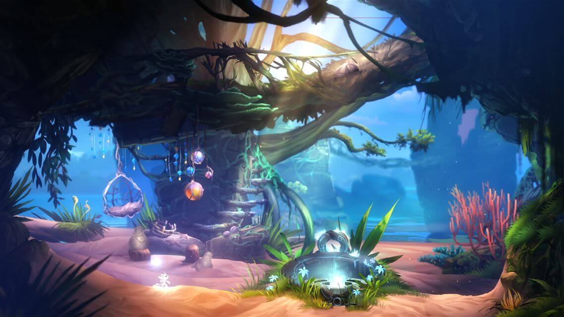Ori and The Blind Forest now offers two new gorgeous areas: Black Root Burrows and the Lost Grove (pictured above).