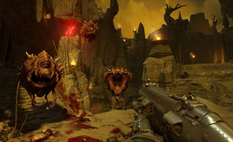 There are plenty of demons to shoot in Doom.