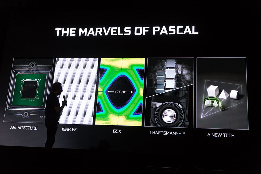 CEO Jen'Hsun Huang reveals the Pascal architecture.