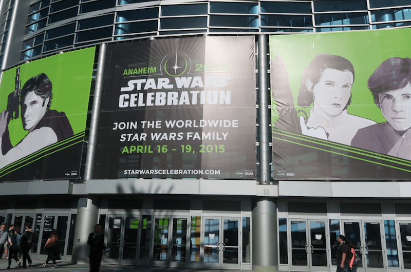 Star Wars Celebration took place in Anaheim in 2015, this year it takes place in London.