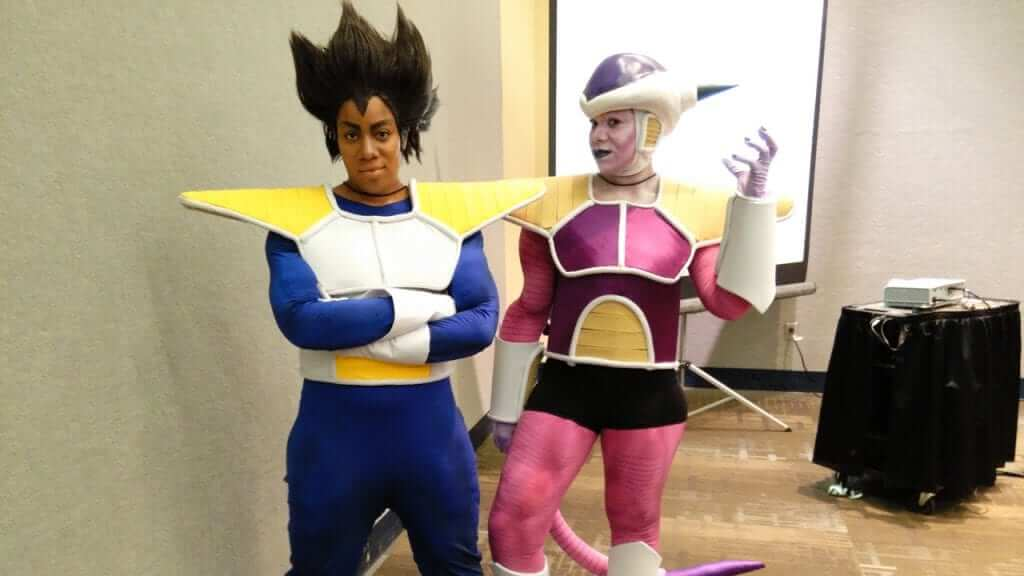 Vegeta, what does the scouter say about their cosplay level? It's over 9,000!
